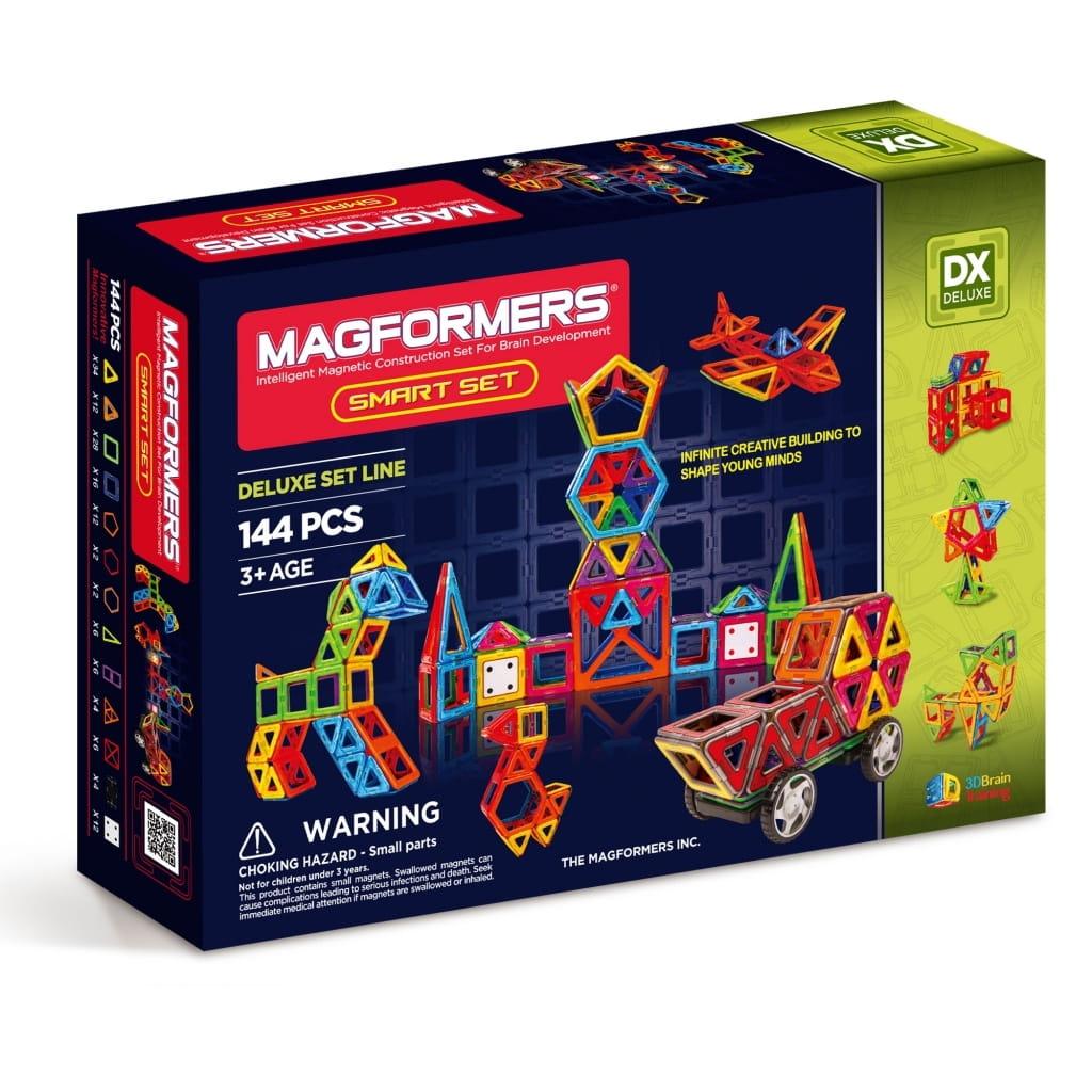 Магнитный конструктор Magformers 710001 (63082) Smart Set с колесами (144 детали)