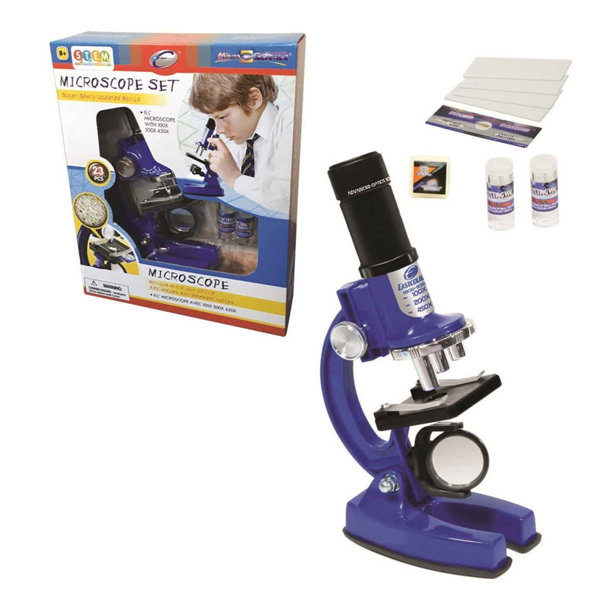 Набор для опытов с микроскопом EASTCOLIGHT  23 предмета - Оптические приборы