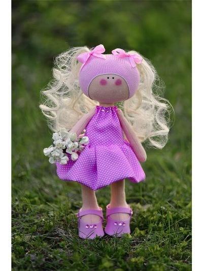 Кукла ручной работы КРАСОТУЛЕНЬКА в розовом платье - Куклы и пупсы
