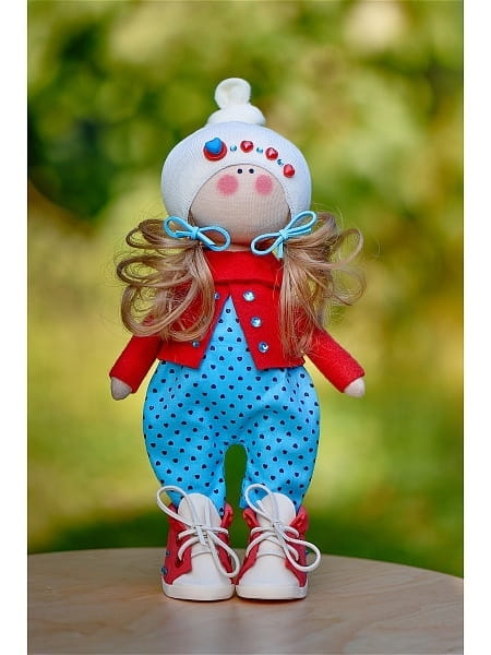 Кукла ручной работы КРАСОТУЛЕНЬКА в красном жакете - Куклы и пупсы