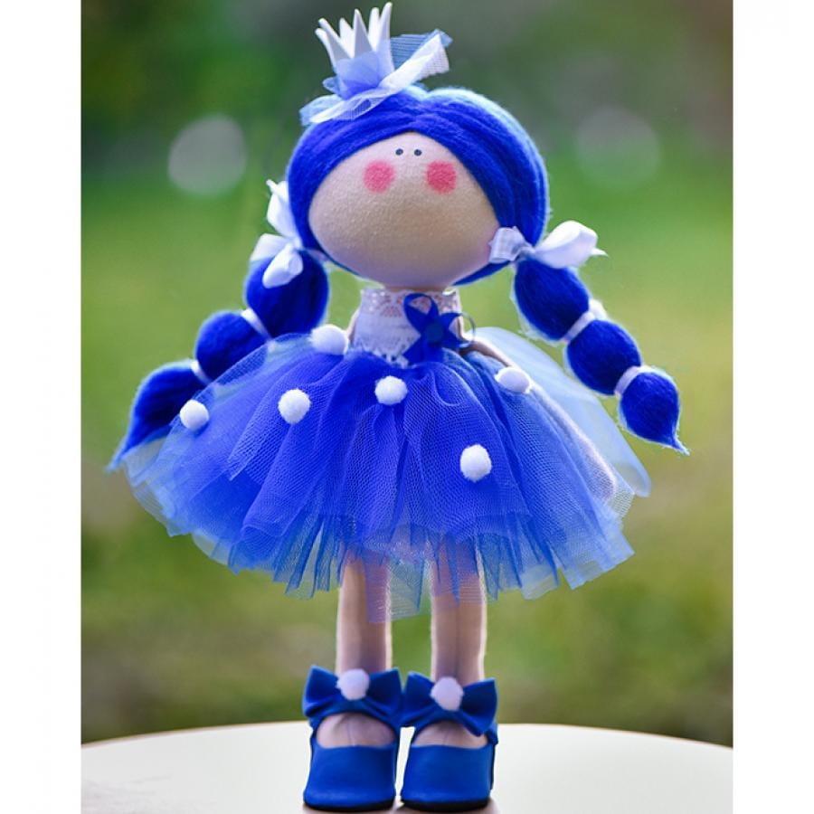 Кукла ручной работы КРАСОТУЛЕНЬКА  Принцесса в синем платье - Куклы и пупсы