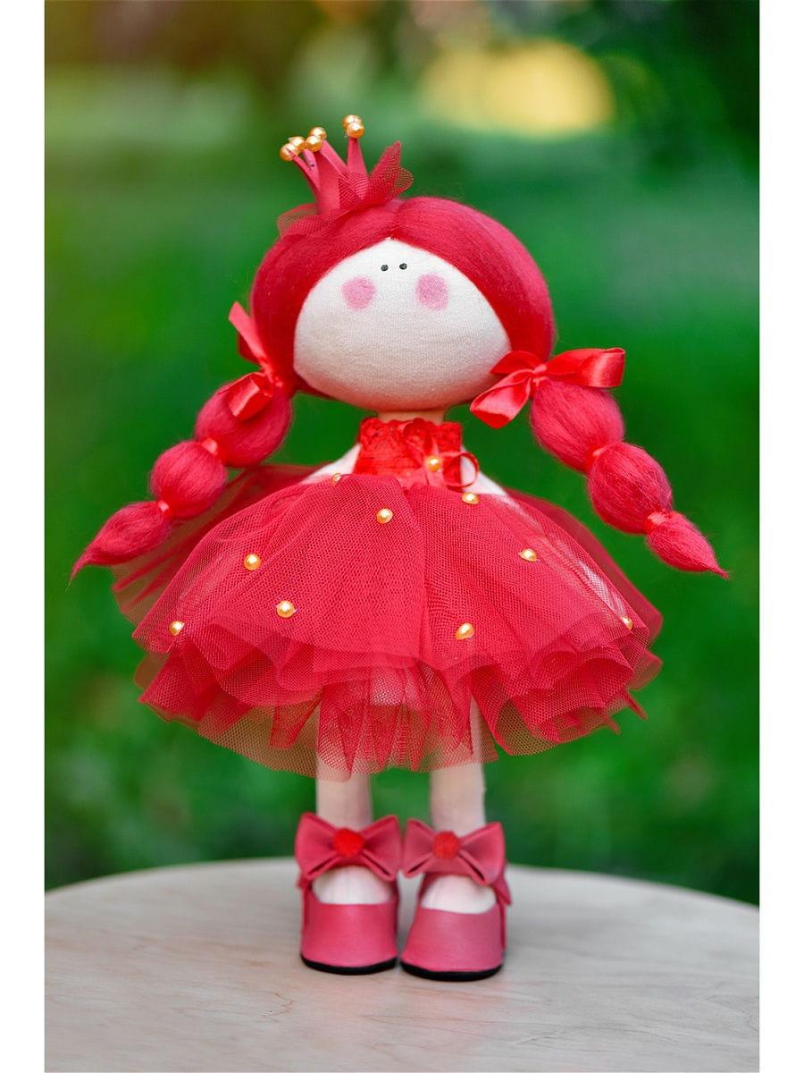 Кукла ручной работы КРАСОТУЛЕНЬКА  Принцесса в красном платье - Куклы и пупсы