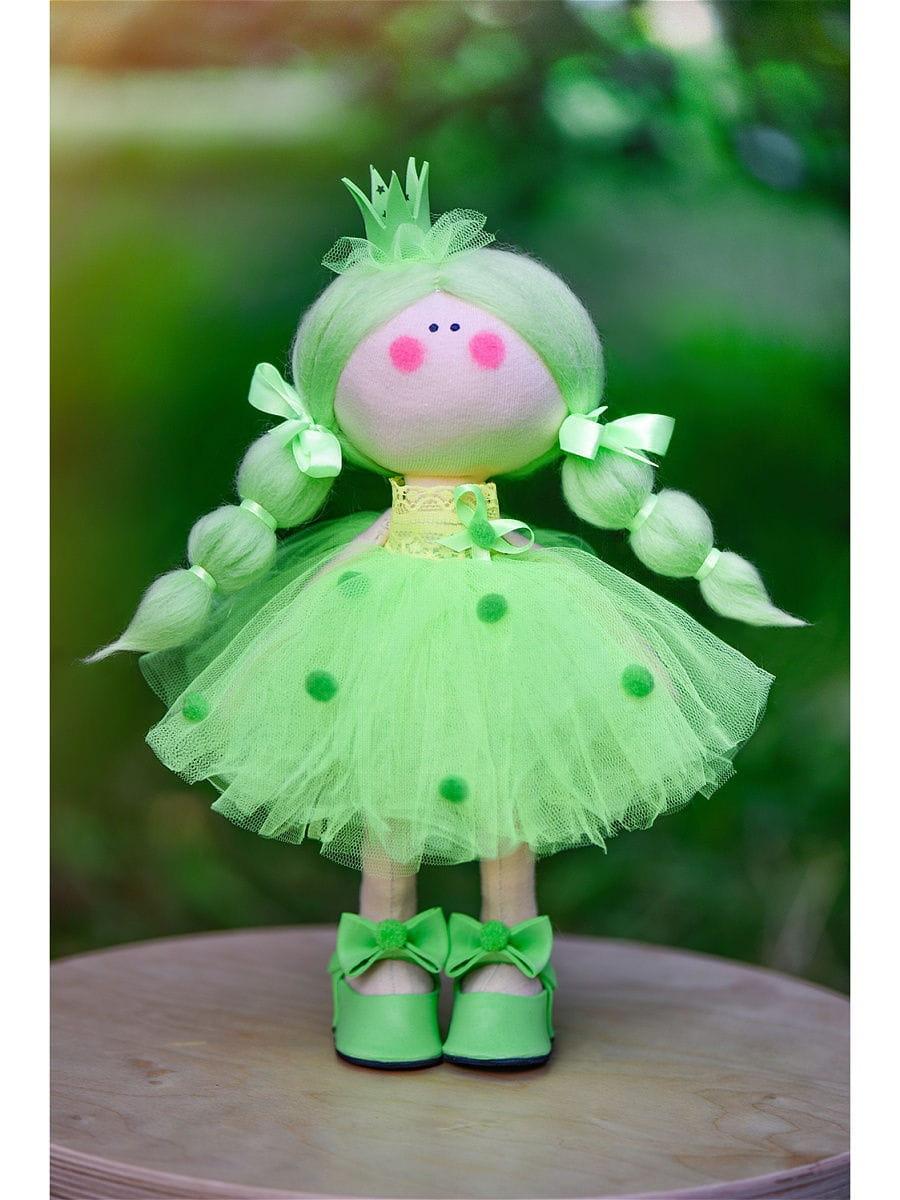 Кукла ручной работы КРАСОТУЛЕНЬКА  Принцесса в зеленом платье - Куклы и пупсы