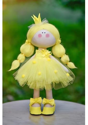 Кукла ручной работы КРАСОТУЛЕНЬКА  Принцесса в желтом платье - Куклы и пупсы