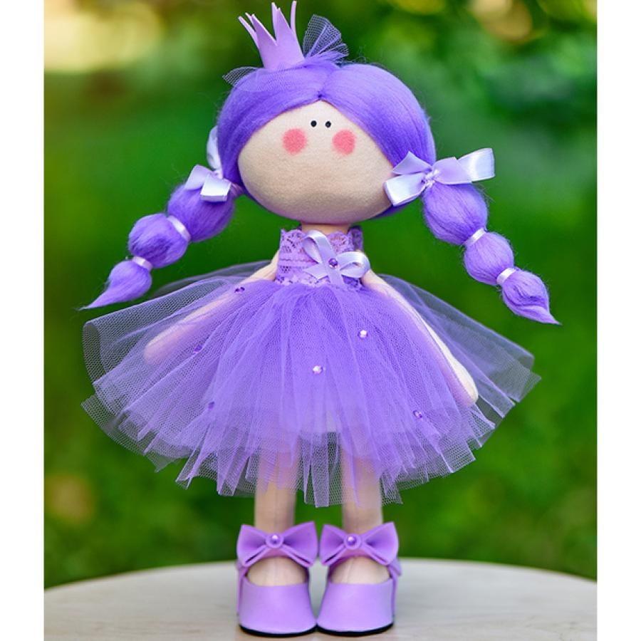 Кукла ручной работы КРАСОТУЛЕНЬКА  Принцесса в сиреневом платье - Куклы и пупсы
