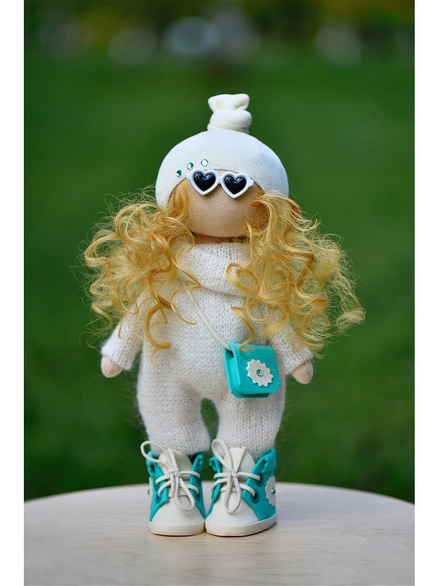 Кукла ручной работы КРАСОТУЛЕНЬКА в вязаном комбинезоне - Куклы и пупсы