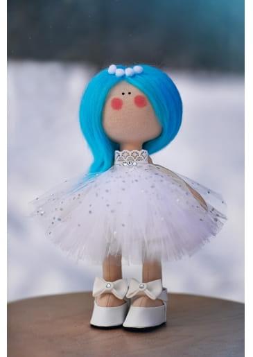 Кукла ручной работы КРАСОТУЛЕНЬКА в пышном белом платье - Куклы и пупсы
