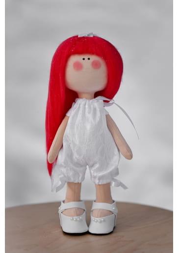 Кукла ручной работы КРАСОТУЛЕНЬКА в белом комбинезоне - Куклы и пупсы
