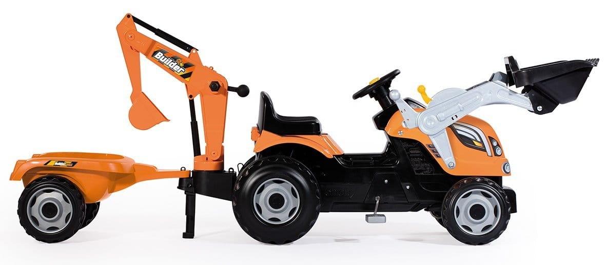 Педальный трактор SMOBY с 2-мя ковшами и прицепом - Веломобили