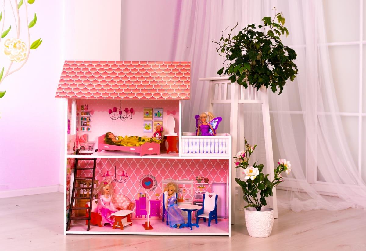 Кукольный домик SUNNYTOY Розовая мечта двухэтажный