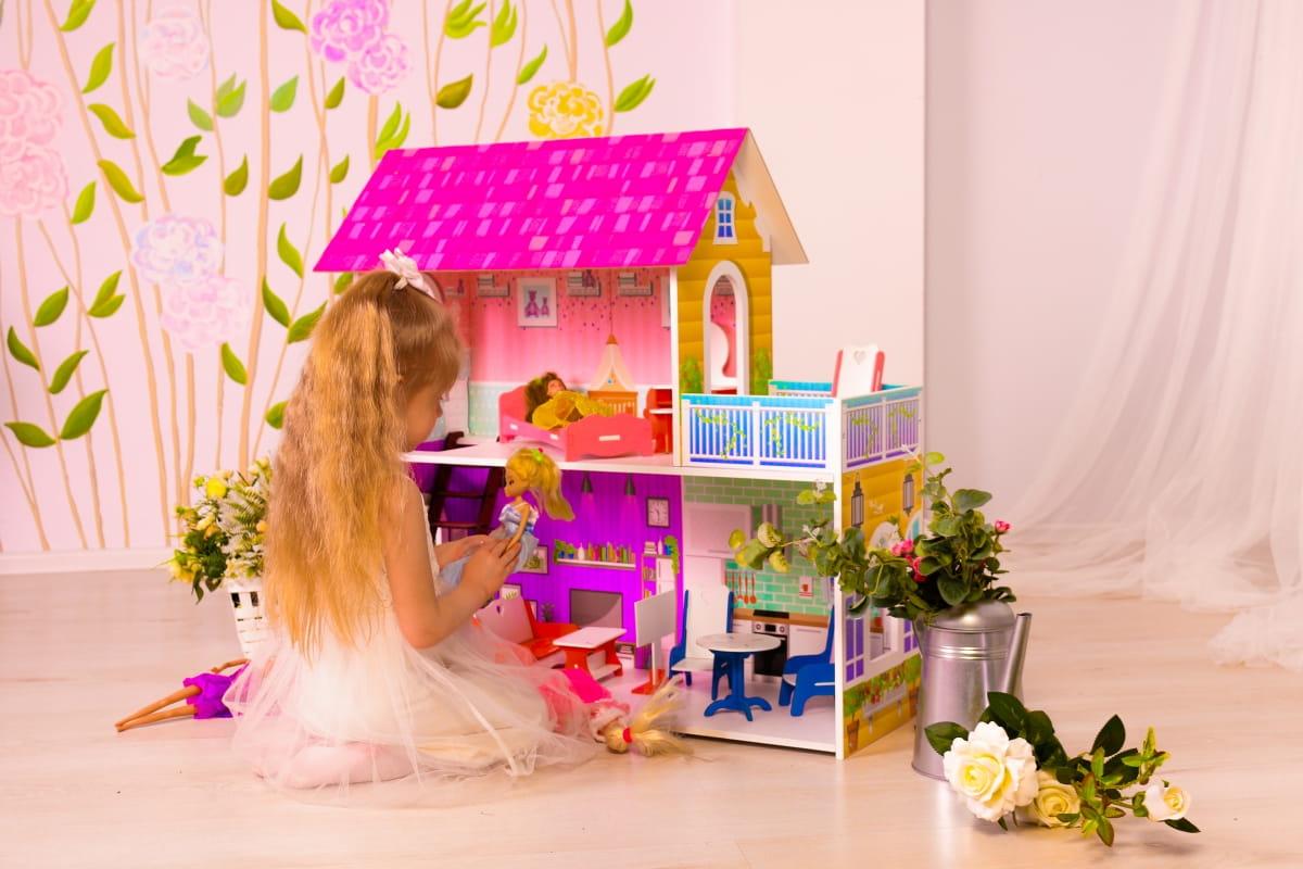 Кукольный домик SUNNYTOY Усадьба двухэтажный