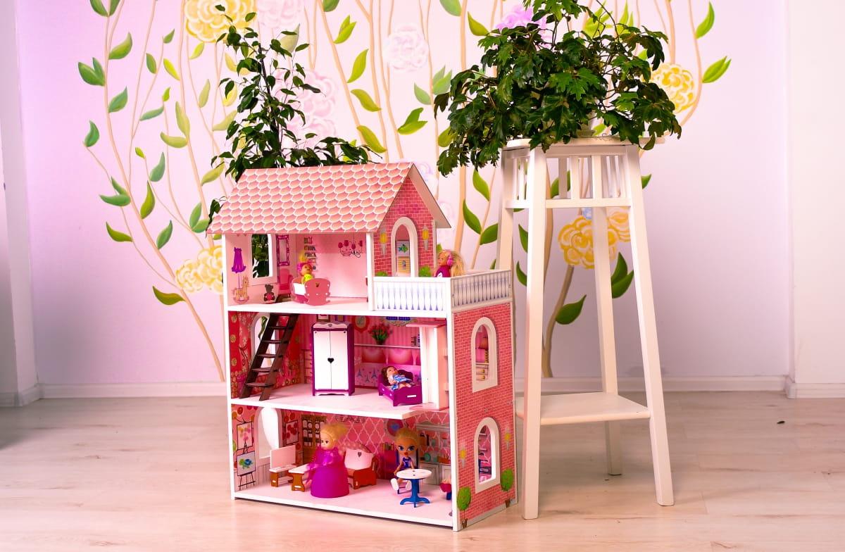 Кукольный домик SUNNYTOY Розовое счастье мини