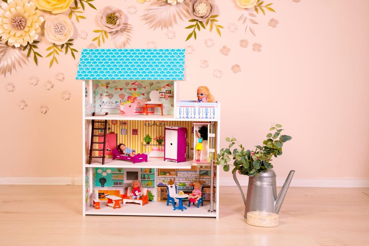 Кукольный домик SUNNYTOY Бирюзовый подарок мини