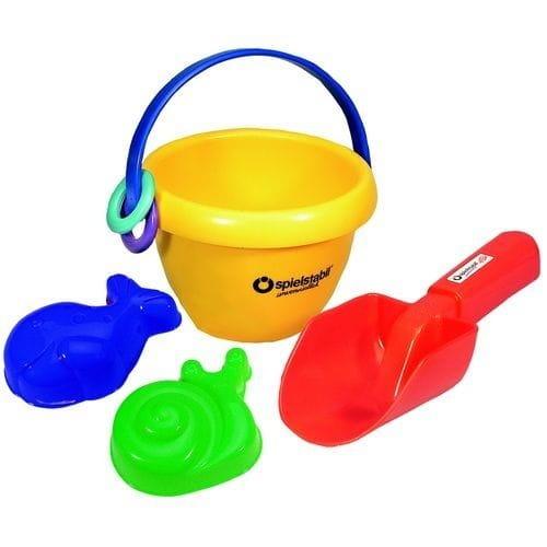 Набор для игры в песочнице SPIELSTABIL Малыш (ведро с отпечатком детской ножки, совочек, формочки) - Игры на природе