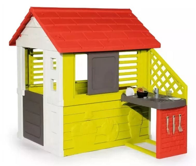 Игровой домик SMOBY с кухней - красный