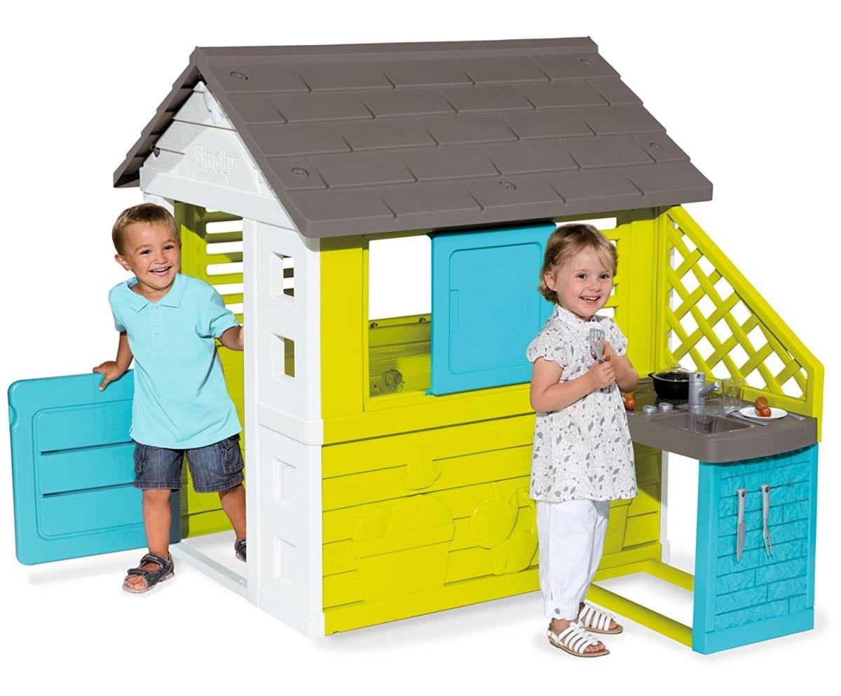 Игровой домик SMOBY с кухней - синий