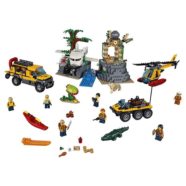 Конструктор LEGO City Лего Город База исследователей джунглей