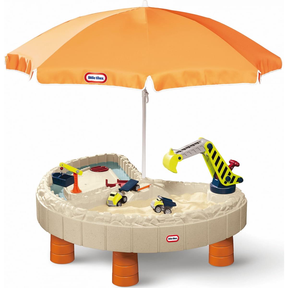 Стол-песочница Little Tikes 401N с зонтом и зоной для воды