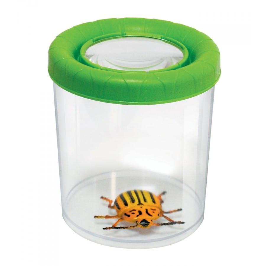Большая банка для насекомых NAVIR с крышкой и увеличением 3x - зеленая