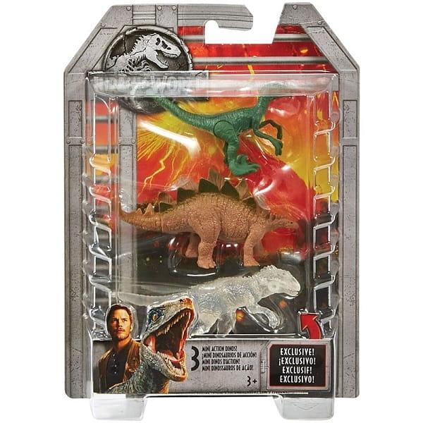 Фигурка JURASSIC WORLD Мини-динозавры  3 штуки (Mattel) - Игровые наборы для мальчиков