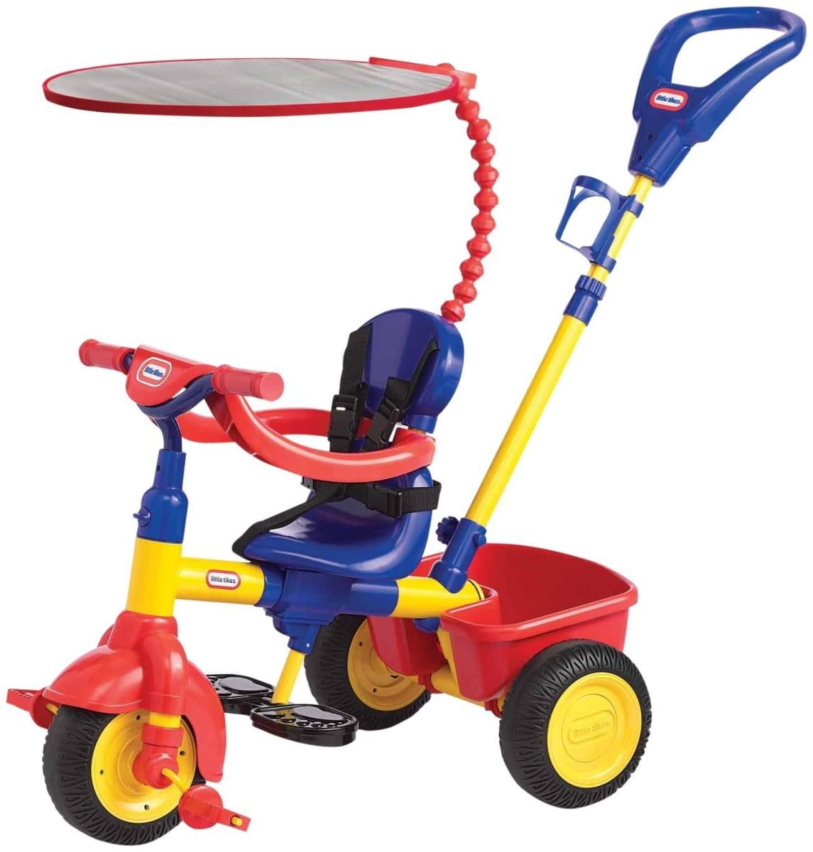 Детский трехколесный велосипед Little Tikes 3 в 1 красно-синий