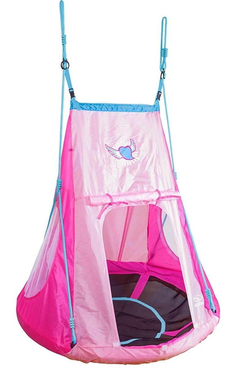 Качели-гнездо с палаткой HUDORA 110 - розовые
