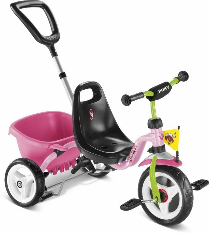 Трехколесный велосипед PUKY Cat 1S - розовый-киви