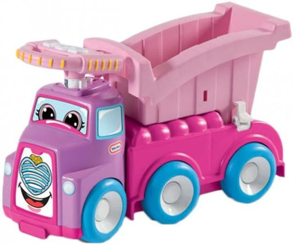 Купить Каталка Little Tikes с откидным верхом - розовая в интернет магазине игрушек и детских товаров