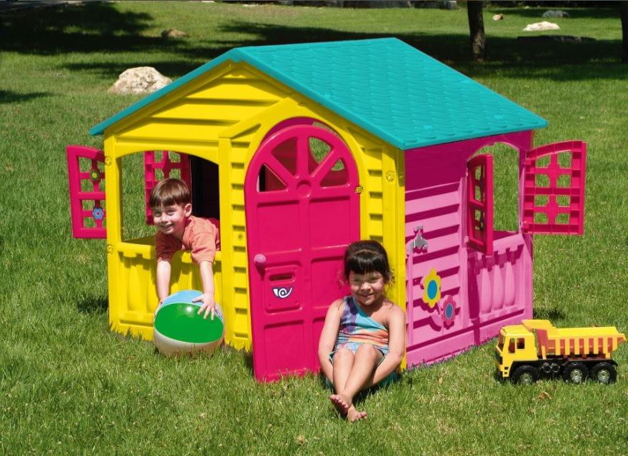Игровой домик PALPLAY Цветы со светом и звуком - розовый, желтый, голубой (Marian Plast)