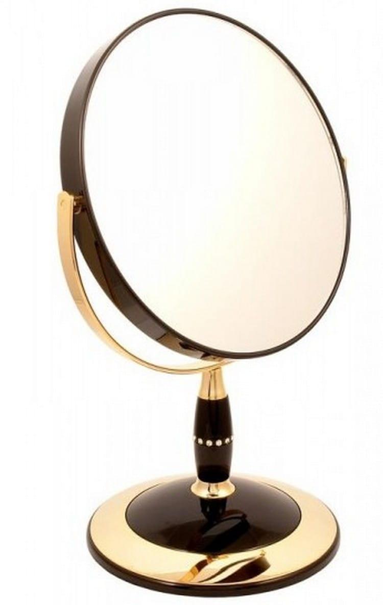 Косметическое зеркало WEISEN 53812 Black-Gold - Косметические зеркала