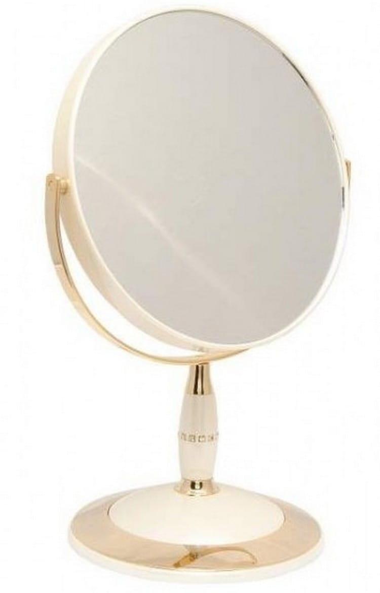 Косметическое зеркало WEISEN 53813 Pearl-Gold - Косметические зеркала