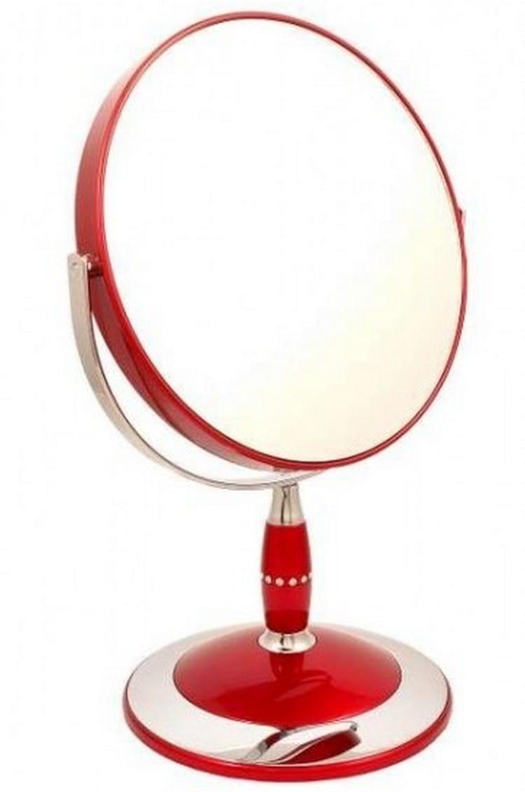 Косметическое зеркало WEISEN 53288 Red - Косметические зеркала