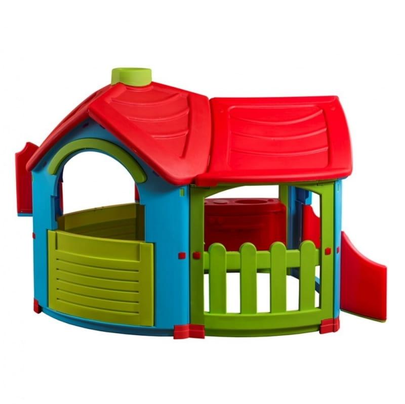 Игровой домик PALPLAY Вилла с пристройкой со светом и звуком  голубой, зеленый, красный (Marian Plast) - Игровые домики и палатки