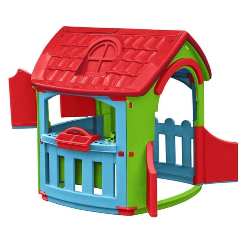 Игровой домик PALPLAY Гараж со светом и звуком  голубой, красный, салатовый (Marian Plast) - Игровые домики и палатки