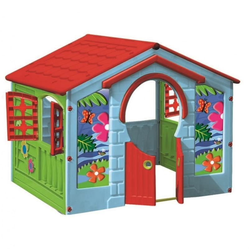 Игровой домик PALPLAY Деревенский со светом и звуком  голубой, зеленый, красный (Marian Plast) - Игровые домики и палатки