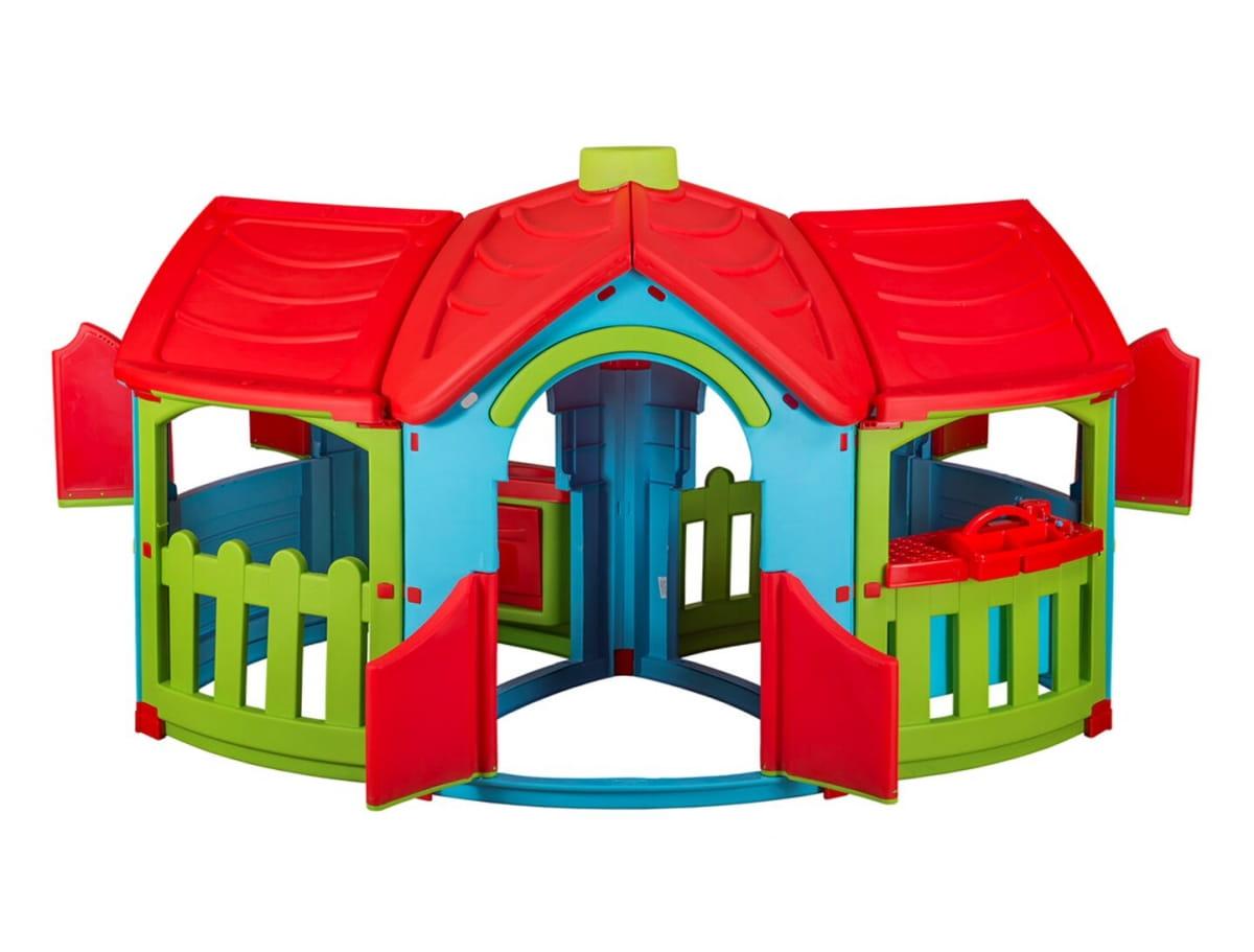 Игровой домик PALPLAY с двумя пристройками со светом и звуком  голубой, зеленый, красный (Marian Plast) - Игровые домики и палатки