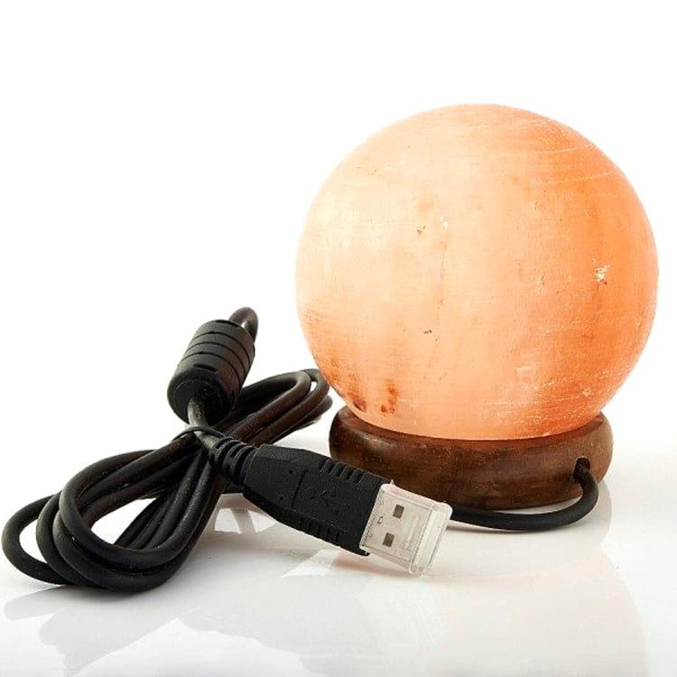 Солевая лампа ДОМ ВЕЛЕСА Шар (с USB) - Будильники и лампы