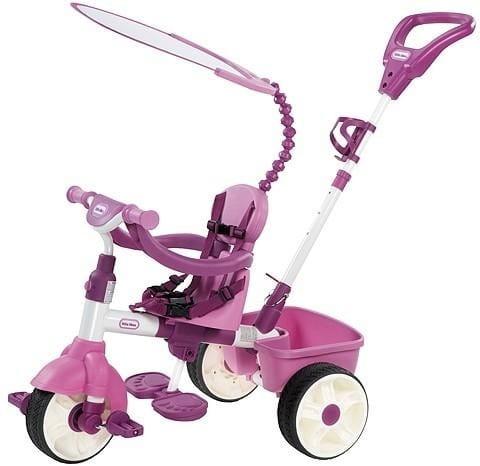 Купить Детский трехколесный велосипед Little Tikes 4 в 1 - розовый в интернет магазине игрушек и детских товаров
