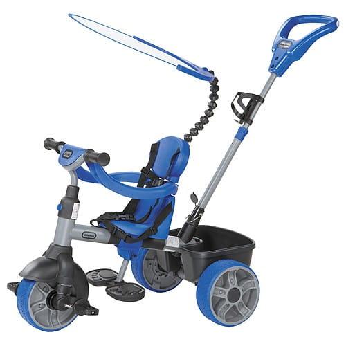 Купить Детский трехколесный велосипед Little Tikes 4 в 1 - синий в интернет магазине игрушек и детских товаров