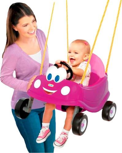Купить Сиденье для качелей Little Tikes Машина розовая в интернет магазине игрушек и детских товаров