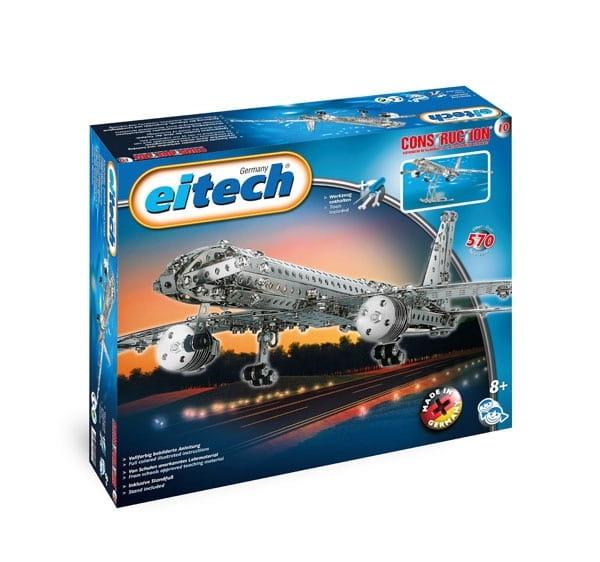 Металлический конструктор EITECH Самолет  570 деталей - Металлические конструкторы