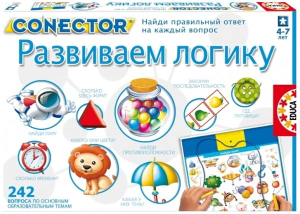 Электровикторина Educa 15461 Развиваем логику