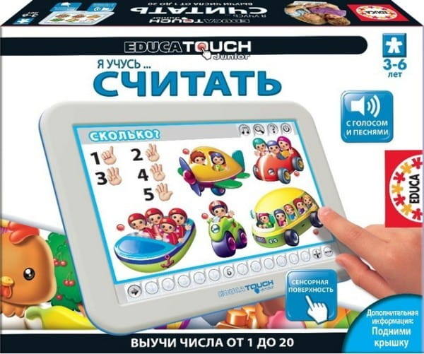 Купить Электронная игра Educa Touch Я учусь считать в интернет магазине игрушек и детских товаров