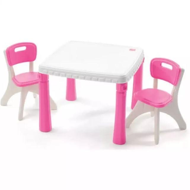 Набор детской мебели STEP2 Столик со стульями - розовый