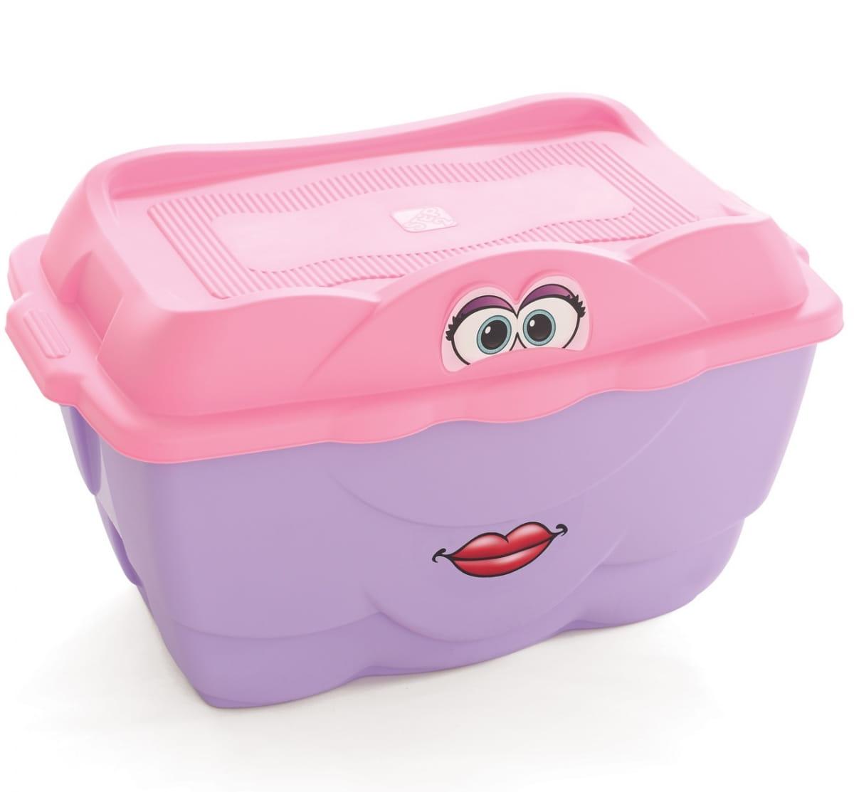 Контейнер для игрушек STEP2 Веселый контейнер - розовый (128 литров)