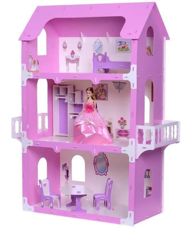 Кукольный домик KRASATOYS Коттедж Екатерина - розовый