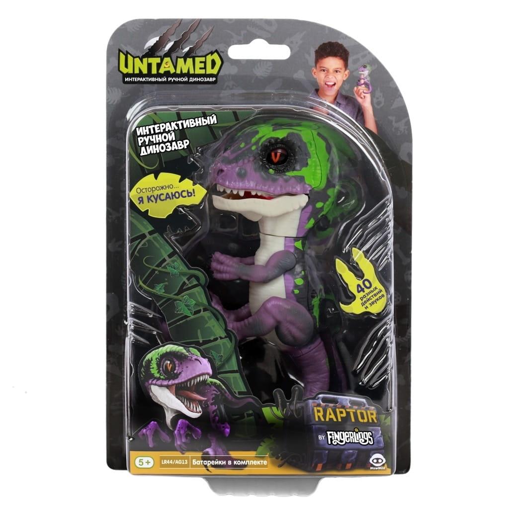 Интерактивный динозавр FINGERLINGS Untamed dino Рейзор - Интерактивные животные