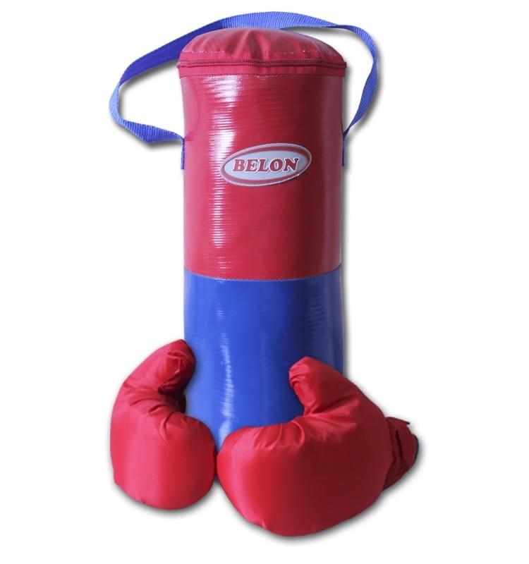 Набор для бокса BELON Груша малая и перчатки (красно-синий) - Детские тренажеры