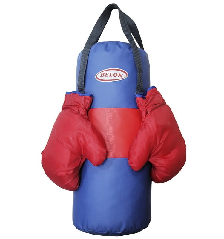 Набор для бокса BELON Груша малая и перчатки (синий) - Детские тренажеры