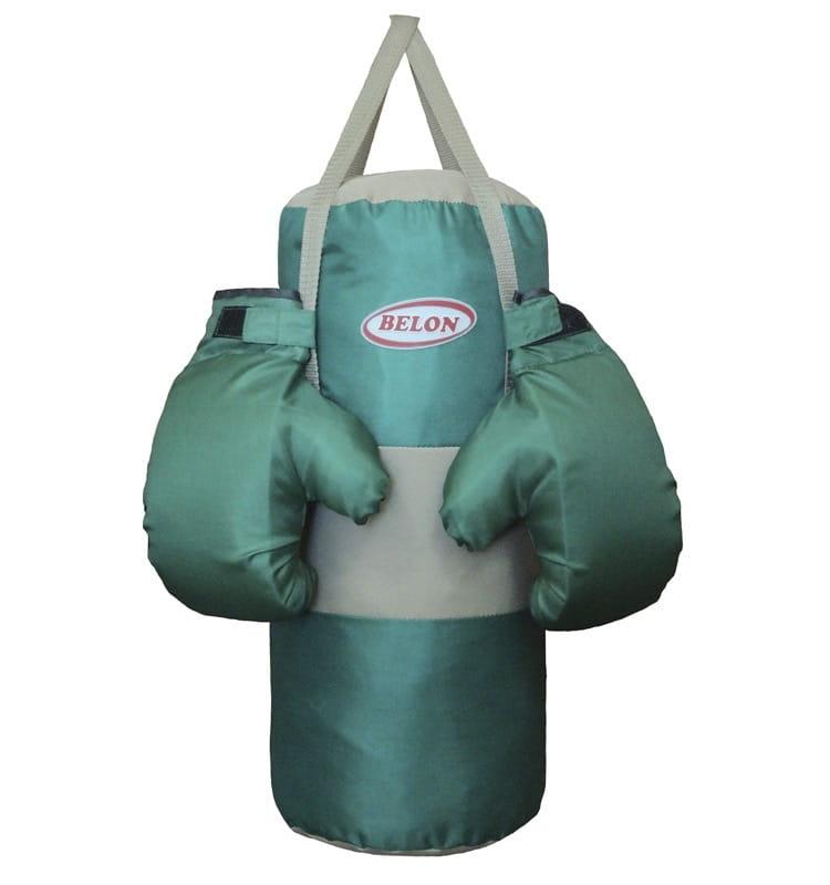 Набор для бокса BELON Груша и перчатки Boom (бирюзовый) - Детские тренажеры